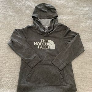 The North Face grey hoodie pullover